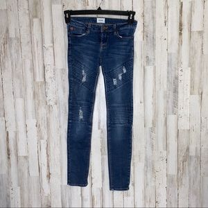 Hudson Girls Skinny Distressed Jeans